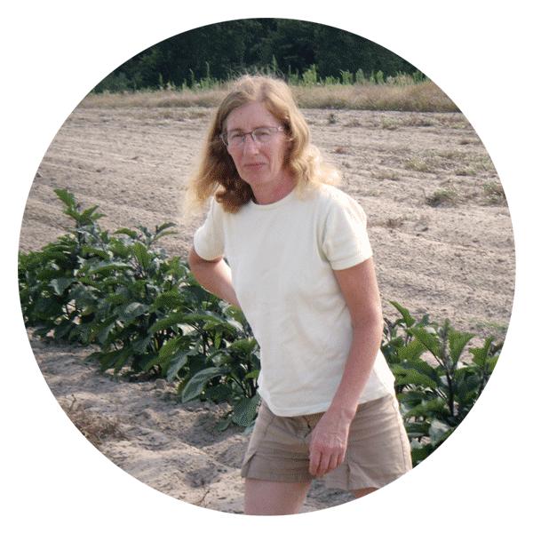 Bernadette, productrice de légumes à Antagnac
