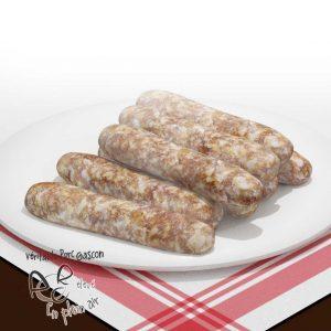 Saucisses de Toulouse de porc gascon