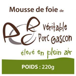 Mousse de foie de porc gascon en pot de 220g
